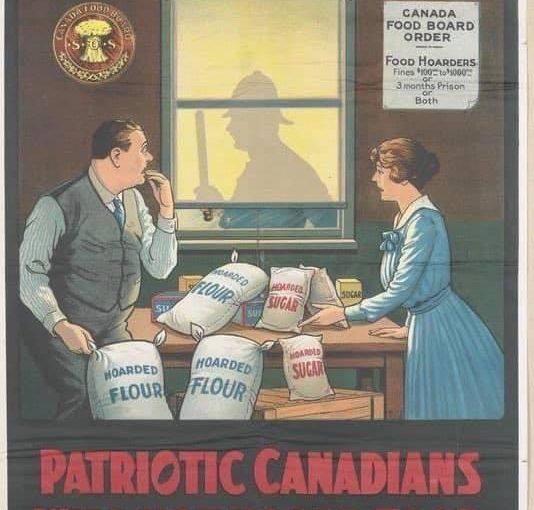 ♦️ 1918 Spanish Flu Poster: Patriots Will Not Hoard Food