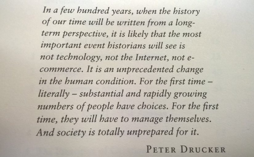 💎 On the biggest long term change in society being the growth in choice (not the internet)