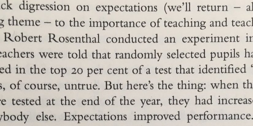 On the power of expectations (for students)