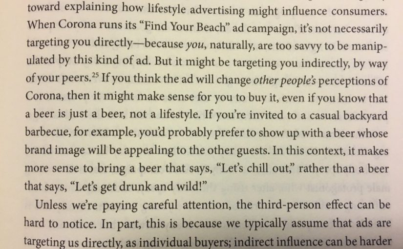 On the third-person effect (an explanation for the influence of lifestyle ads)