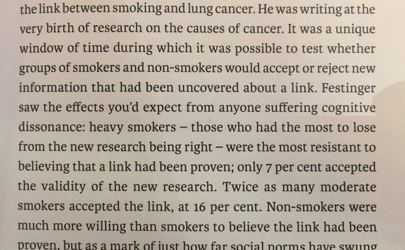 💎 On the tendency to interpret information to fit with our own behaviour (smoking and lung cancer)