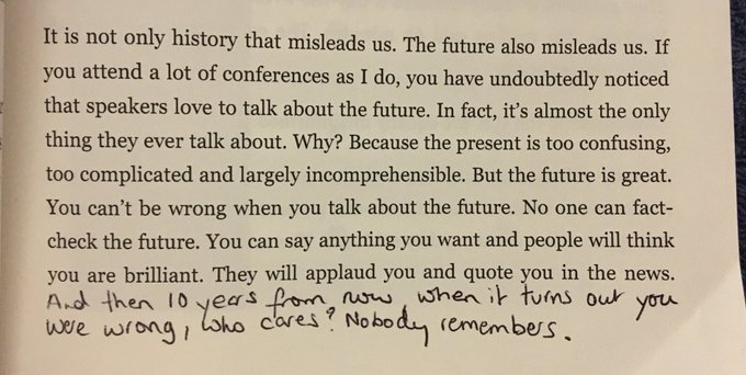 Why conference speakers love to talk about the future (there's no accountability)