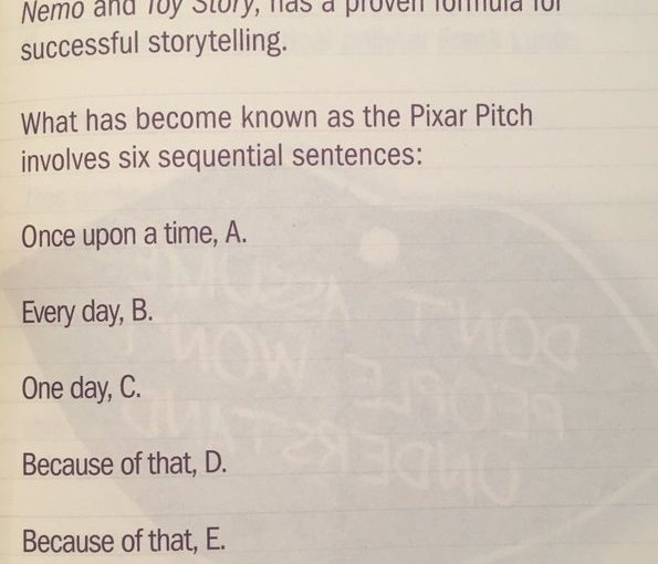 Six step approach to storytelling (the Pixar Pitch)