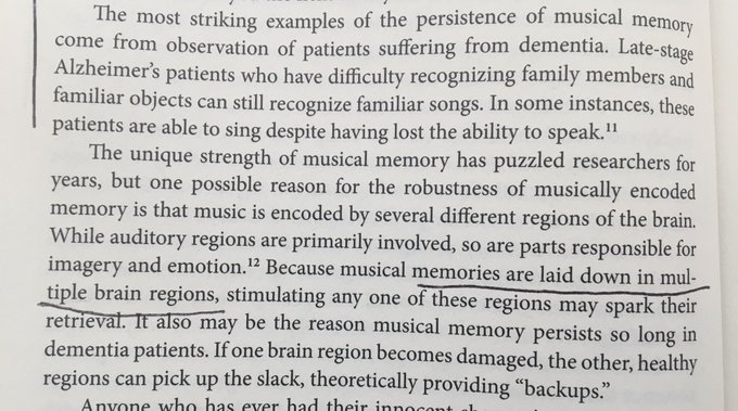 On the persistence of musical memory (even late stage Alzheimer's patients)