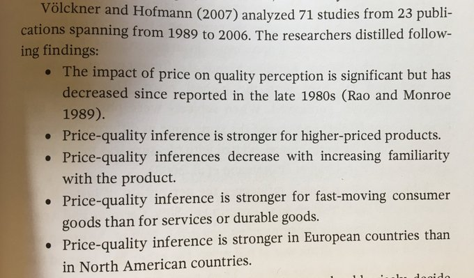 💎 It's well proven that price affects quality perceptions (but its effect is weighted on a number of factors)