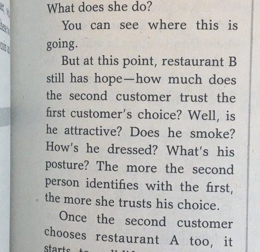 Initial randomness amplified by social proof makes predicting the popularity of things tricky (restaurants are a good example)