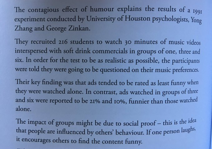 💎 If you're creating funny ads for your brand best to run them in programmes that get watched in groups (it'll make them even funnier)