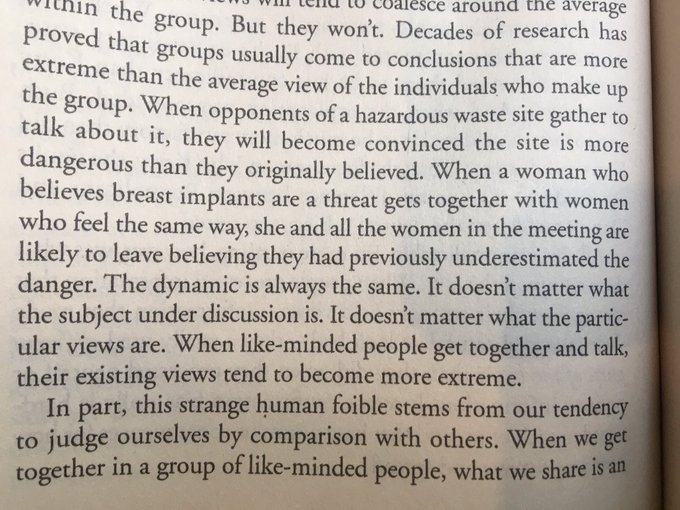 💎 Group polarisation and the danger of surrounding yourself with people who share similar opinions (How correct am I?)