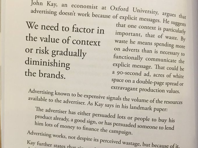 💎 Even in an era of efficiency, there's a role for extravagance in advance (advertising works)