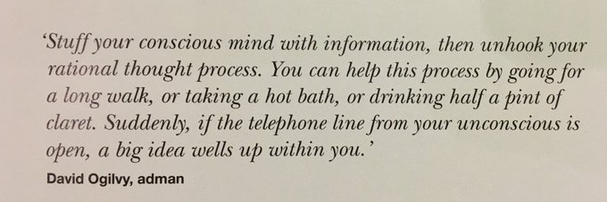💎 Approaches for coming up with a big ideas (David Ogilvy)