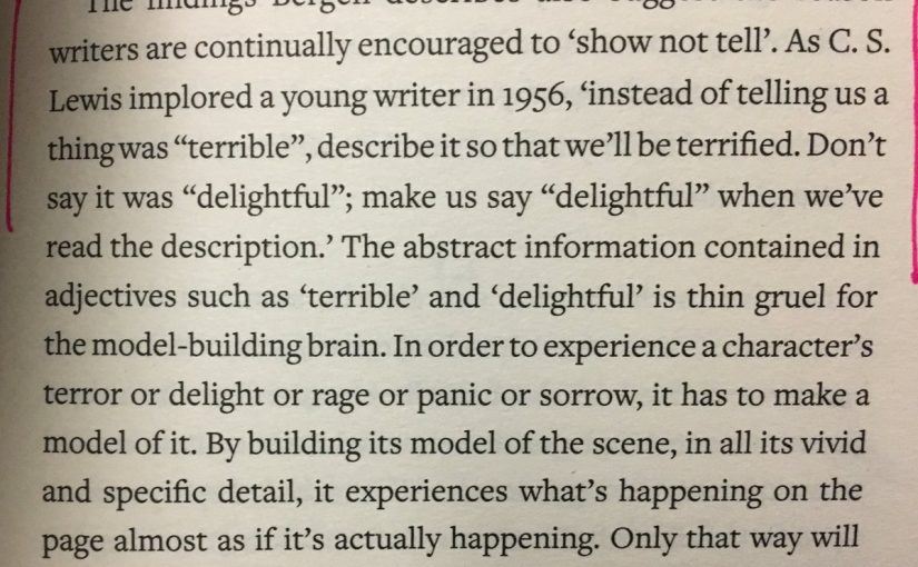 The need for writers to show, not tell (C.S. Lewis)