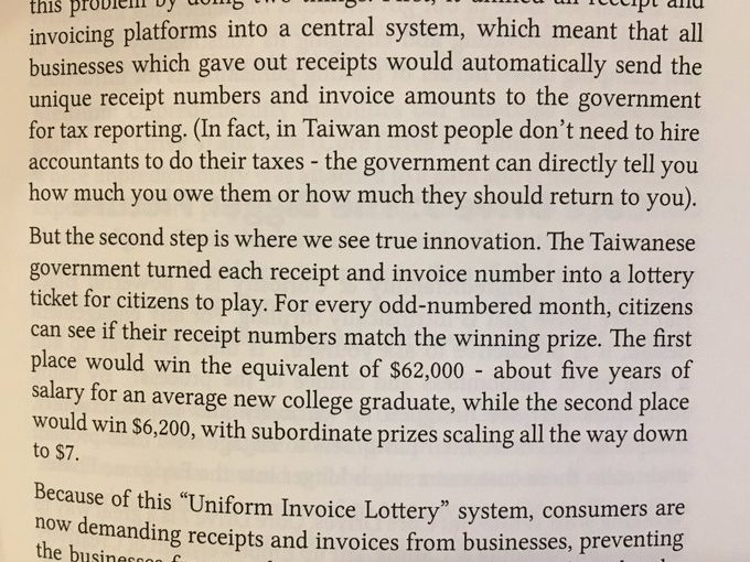 💎 Lotteries to get shoppers to stop firms avoiding tax (gamification of taxes)