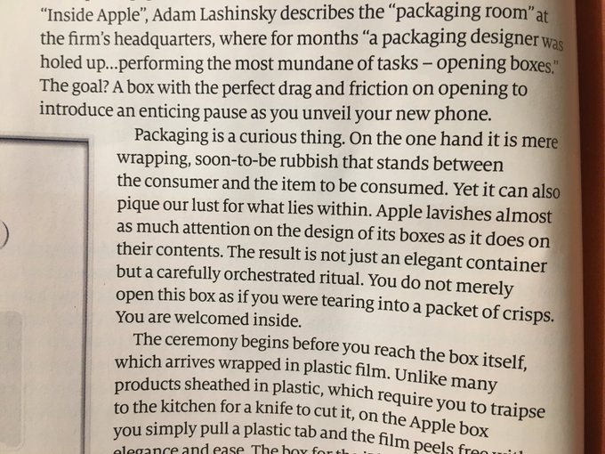 How Apple's allure comes from paying attention to areas most companies ignore (opening the packaging)
