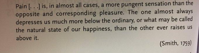 💎 Describing loss aversion in 1759 (Adam Smith)