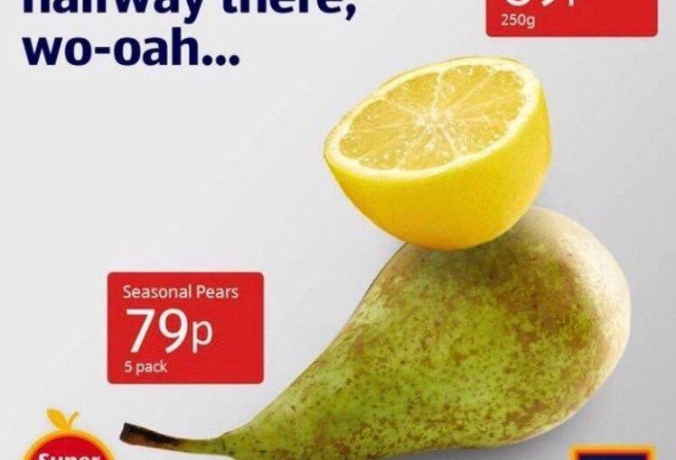 ♦️ Aldi Lemon on a Pear