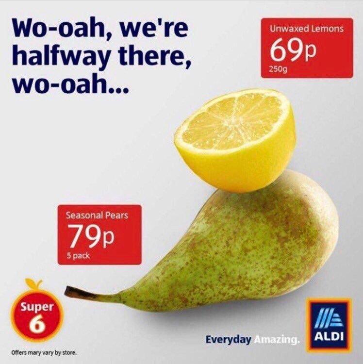 Aldi Lemon on a Pear