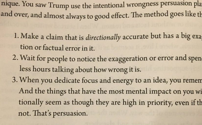 💎 Intentional wrongness (a tactic used by Trump and Brexit buses)