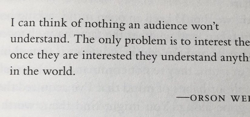 💎 On the power of sparking the audience (curiosity)