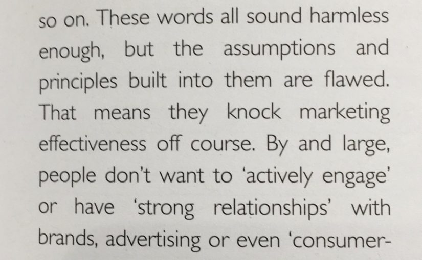 💎 On flawed marketing language leading to flawed assumptions about how ads work (actively engage)
