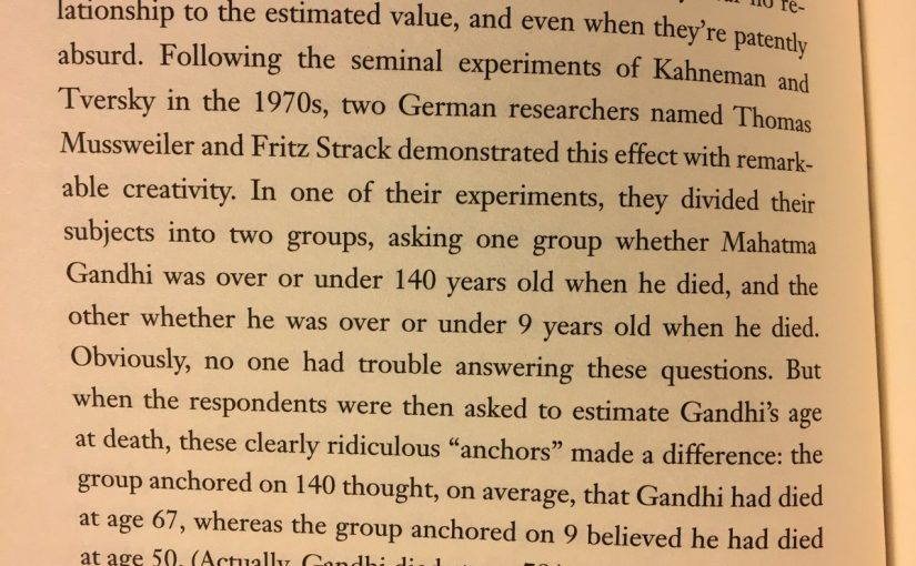 💎 On how anchors influence us (even when they bear no relationship to the estimated value)