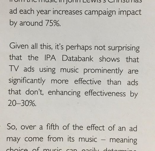 💎 On the discrepancy between how important music is in ads and how little attention it gets from marketers (less than 0.1%)