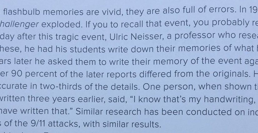 💎 The fallibility of memory (even for big events)