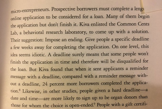 💎 On the power of a deadline