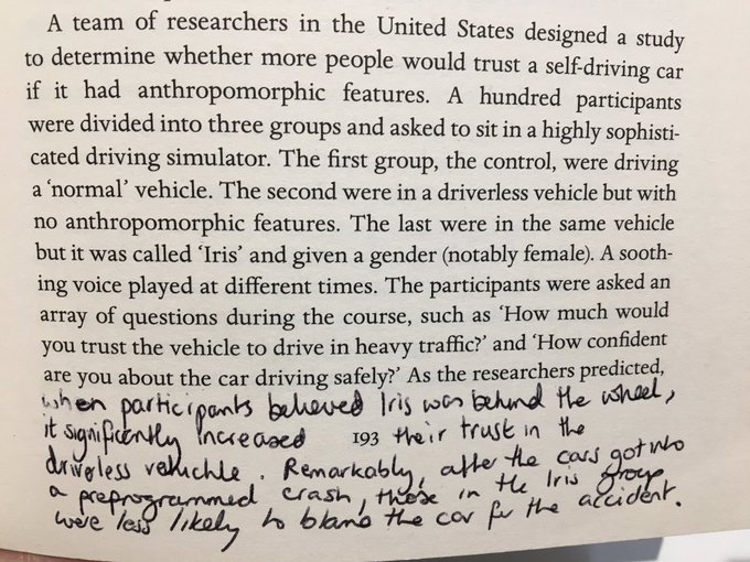 💎 How adding human features to a self driving car made people trust it more