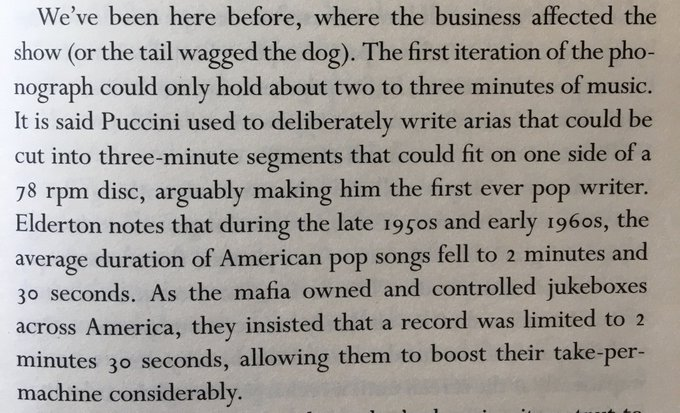 💎 How economics affects culture – in the 1950s average duration of US pop songs dropped to 2:30
