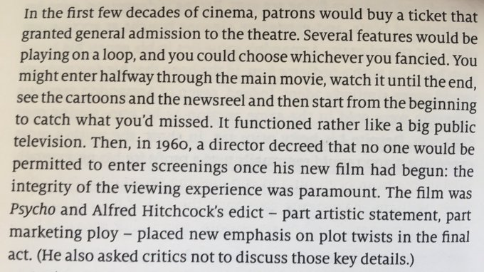 💎 How Hitchcock drummed up interest in Psycho by making it harder to watch