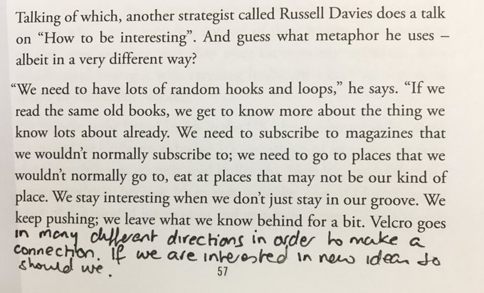 💎 On the importance of an eclectic mix of stimuli if we're to have an interesting point of view