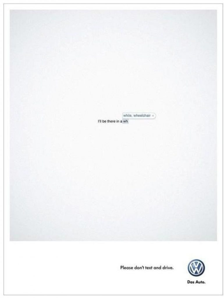 Volkswagen Don't Text and Drive