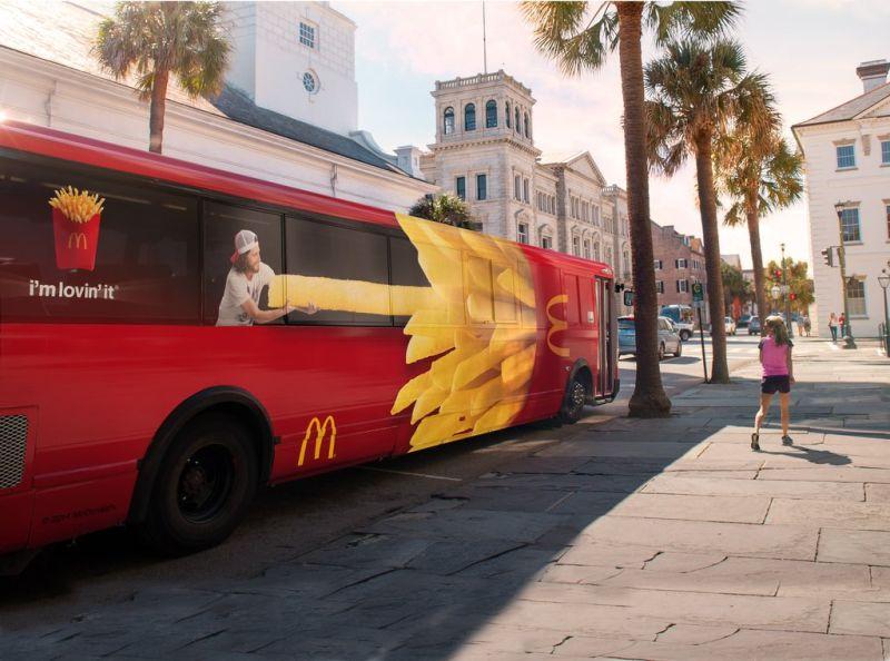 McDonalds Red Bus / Box Fries